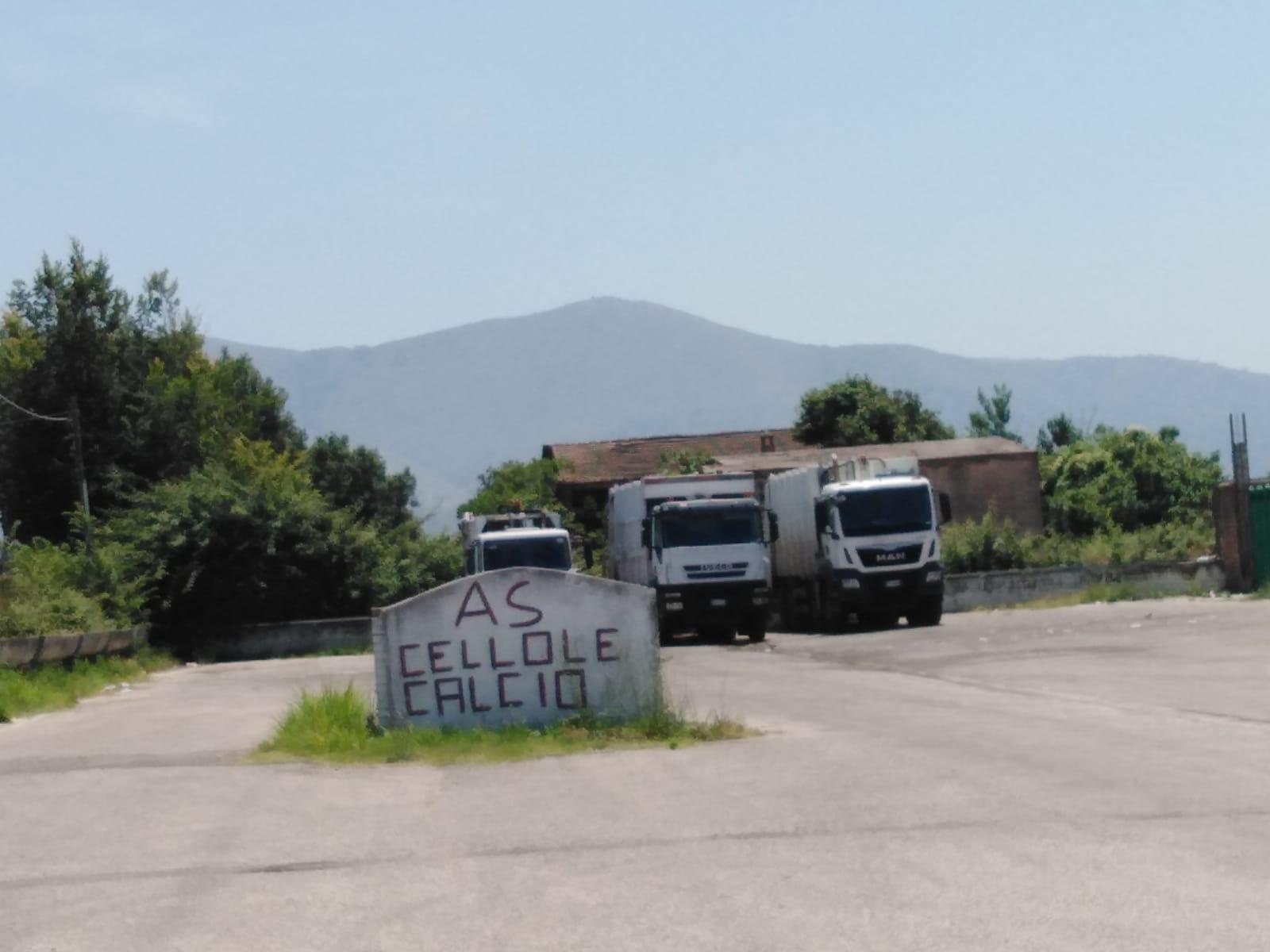 Smaltimento Rifiuti Sessa Aurunca cellole – area antistante il campo sportivo utilizzata come
