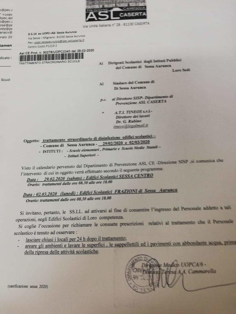 Smaltimento Rifiuti Sessa Aurunca sessa aurunca – sanificazione, ecco le date della riapertura