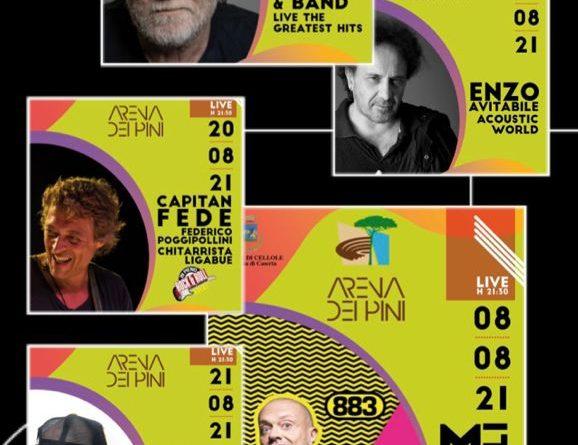 CELLOLE / BAIA DOMIZIA – L'Arena dei Pini riapre col botto, ecco il programma di tutti i concerti